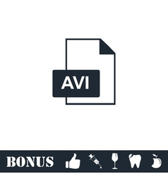 AVI icon flat vector image