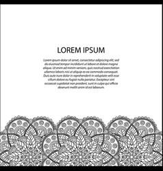 decorative element border vector image vector image