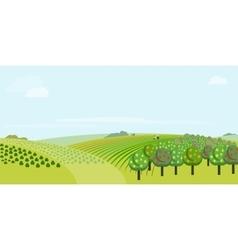 Farm field vector image
