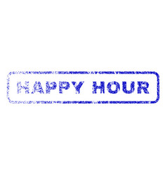 happy hour rubber stamp vector image