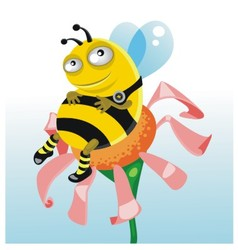 happy thick bee vector image