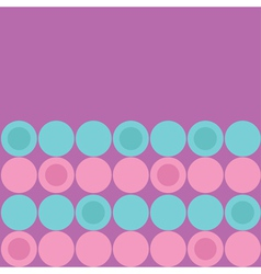 Round dot pattern background Blue Pink Purple vector image vector image
