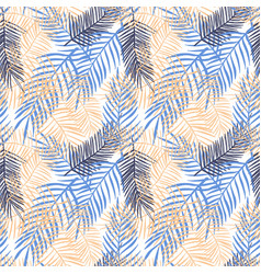 seamless pattern with palm leaves vector image