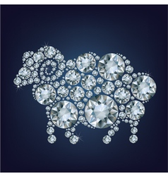sheep made up a lot of diamonds vector image vector image