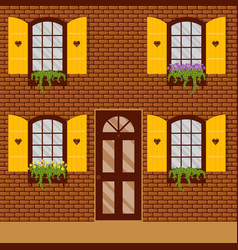 window and shutters vector image vector image