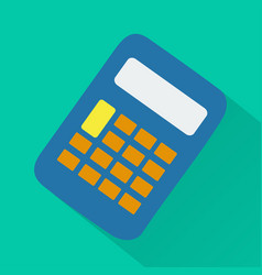 calculator modern design flat icon with long shado vector image