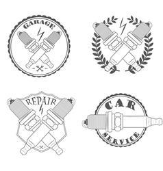 car service repair quality logos and pictures vector image vector image