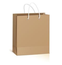 Empty shopping bag vector image