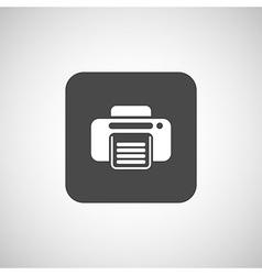 fax icon design printer document print vector image