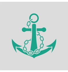 Sea anchor with chain icon vector image