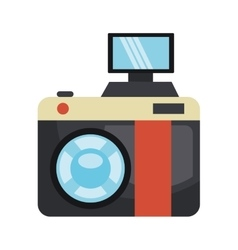 Vintage camera isolated flat icon vector image