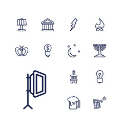 13 light icons vector