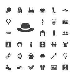 33 woman icons vector