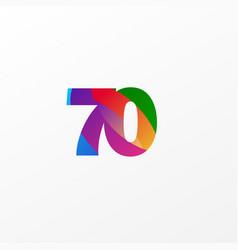 70 years anniversary celebration elegant color vector