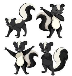 A set of skunk vector