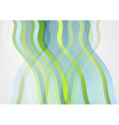 Abstract minimal blue green wavy design vector