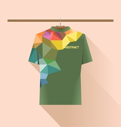 Abstract shirt with colored logo vector