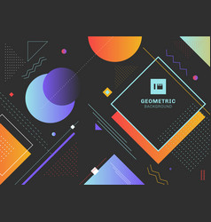 abstract trendy colorful geometric shapes pattern vector image