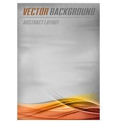 Background orange layout bottom vector