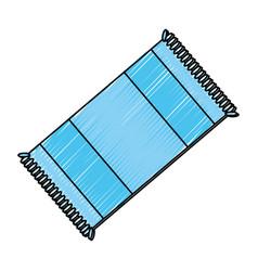Bath towel extended vector