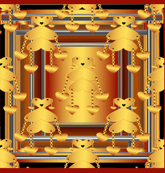 beautiful patterned frame vector image