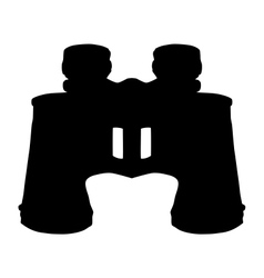 Binoculars silhouette vector