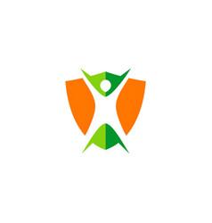 body protection shield logo vector image