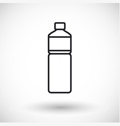 bottle of water thin line web icon vector image