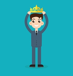 businessman crown vector image