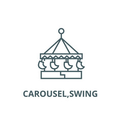 carouselswing line icon carouselswing vector image