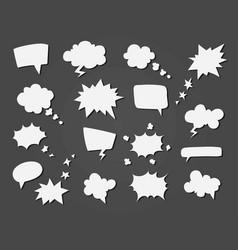 cartoon speech balloons collection vector image