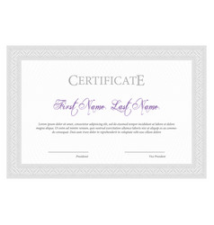certificate template diploma currency border vector image