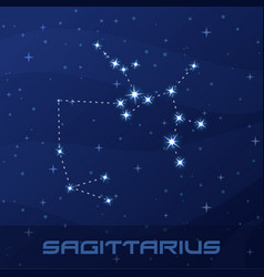 constellation sagittarius astrological sign vector image