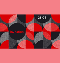 Creative geometrical abstract pattern for card vector