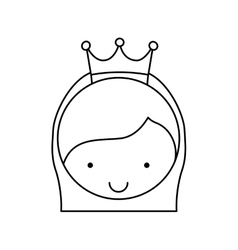 Cute little girl character with crown vector