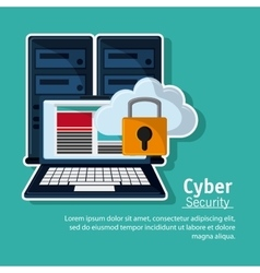 Cyber and System Security icon vector
