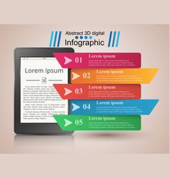digital gadget ebook book reader business vector image