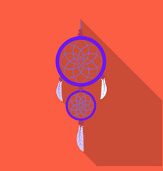 Dreamcatcher icon in flate style isolated on white vector