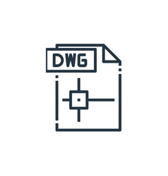Dwg file icon isolated on white background vector