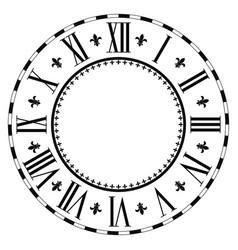 Elegant roman clock vector