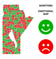 Emotional manitoba province map composition vector