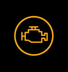 engine car check icon car dashboard vector image
