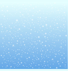 Falling snow on the blue background vector