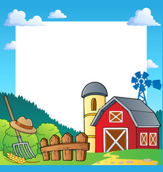 Farm theme frame 1 vector