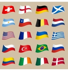 Flag Set vector image