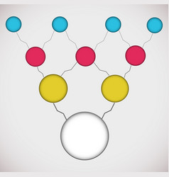 Flat business diagram vector