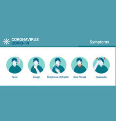 flat modern design coronavirus - symptoms vector image