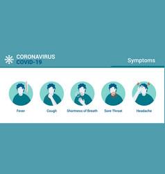 Flat modern design coronavirus - symptoms vector