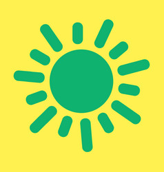 Flat sun icon summer pictogram sunlight symbol vector