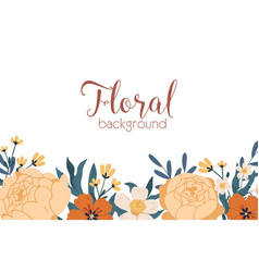 floral backdrop with elegant blooming autumn vector image